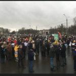 В Петербурге проходит митинг в защиту обрушившегося СКК